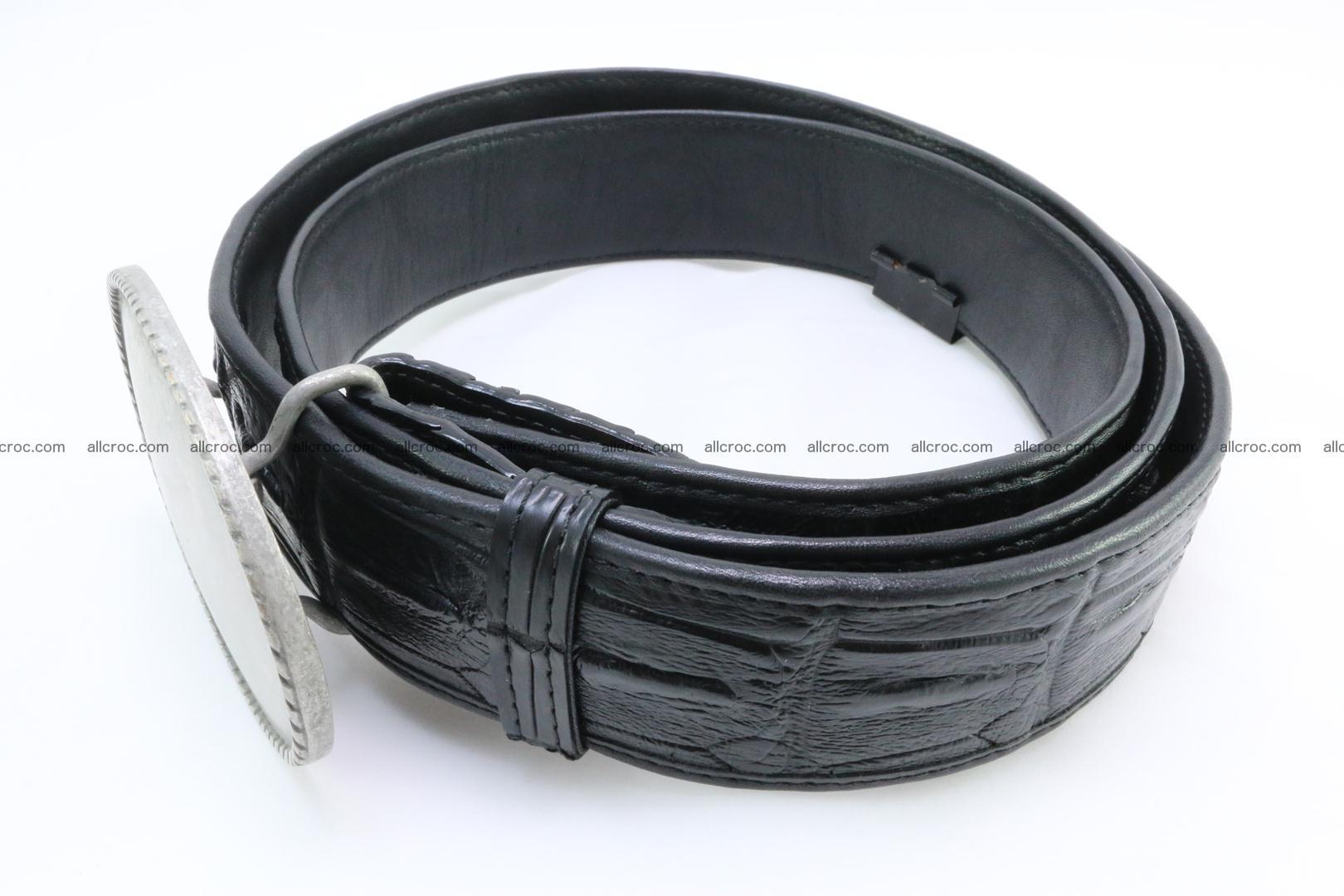 Genuine crocodile leather hornback belt 067 Foto 2