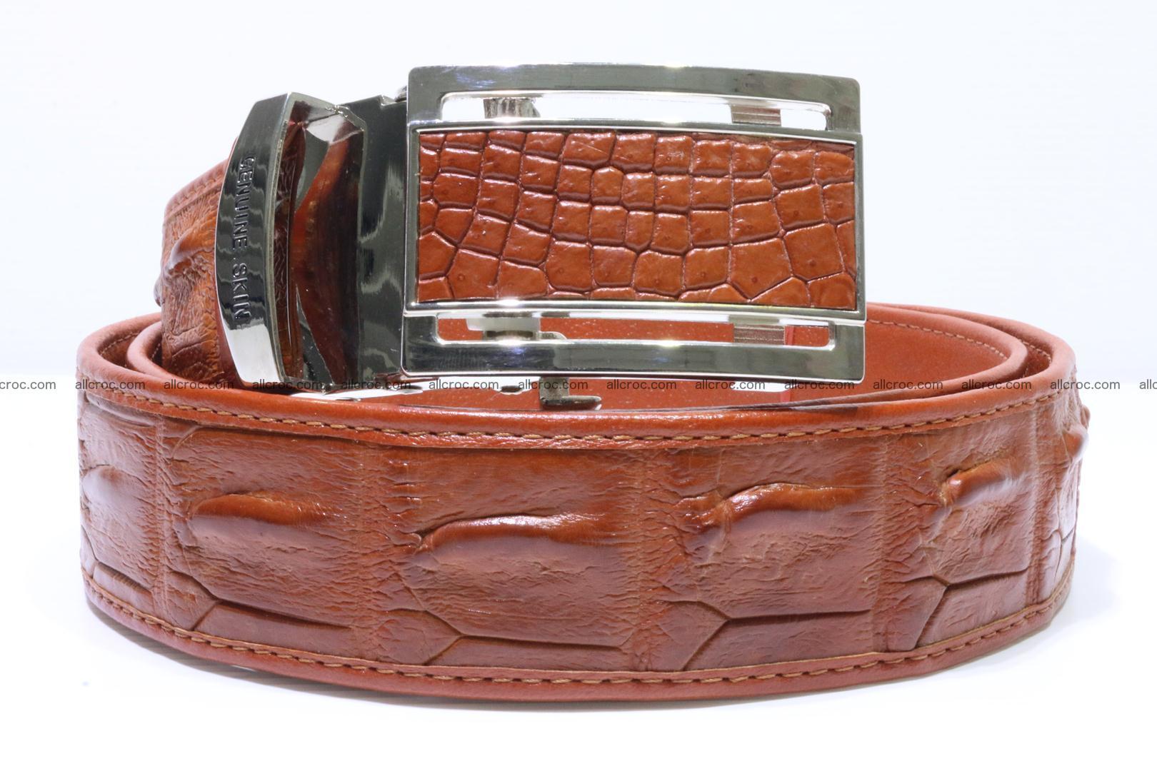 Genuine Crocodile leather Hornback belt 006 Foto 0