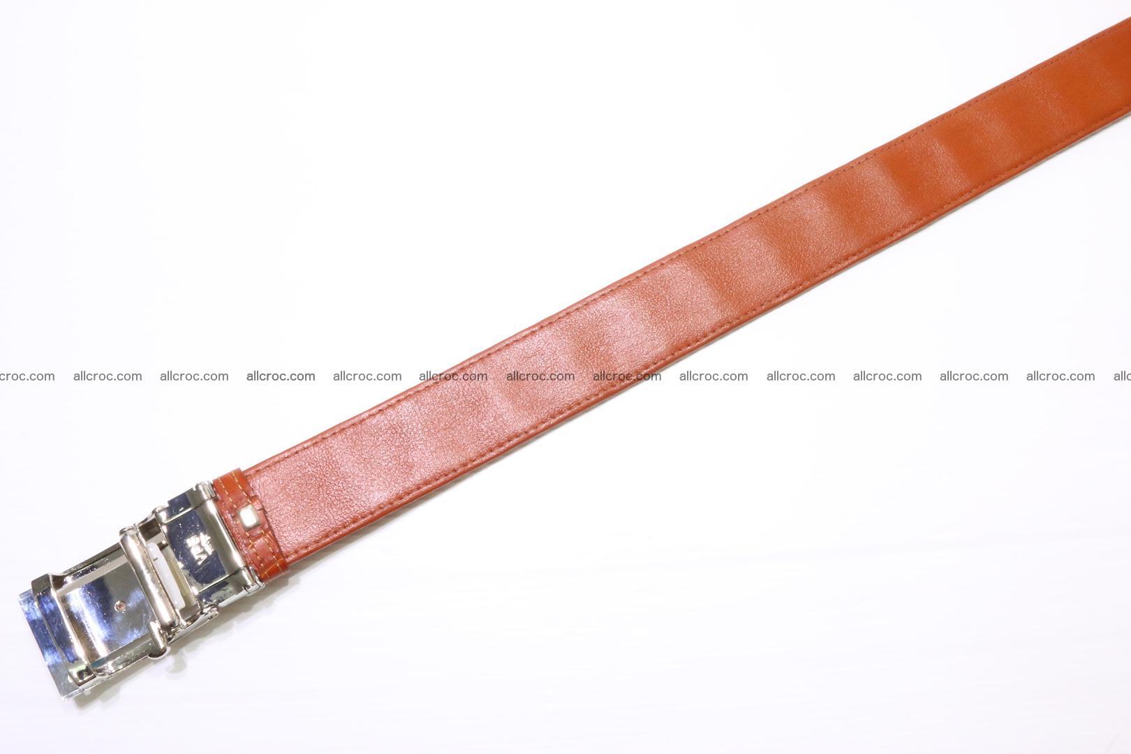 Genuine Crocodile leather Hornback belt 006 Foto 3