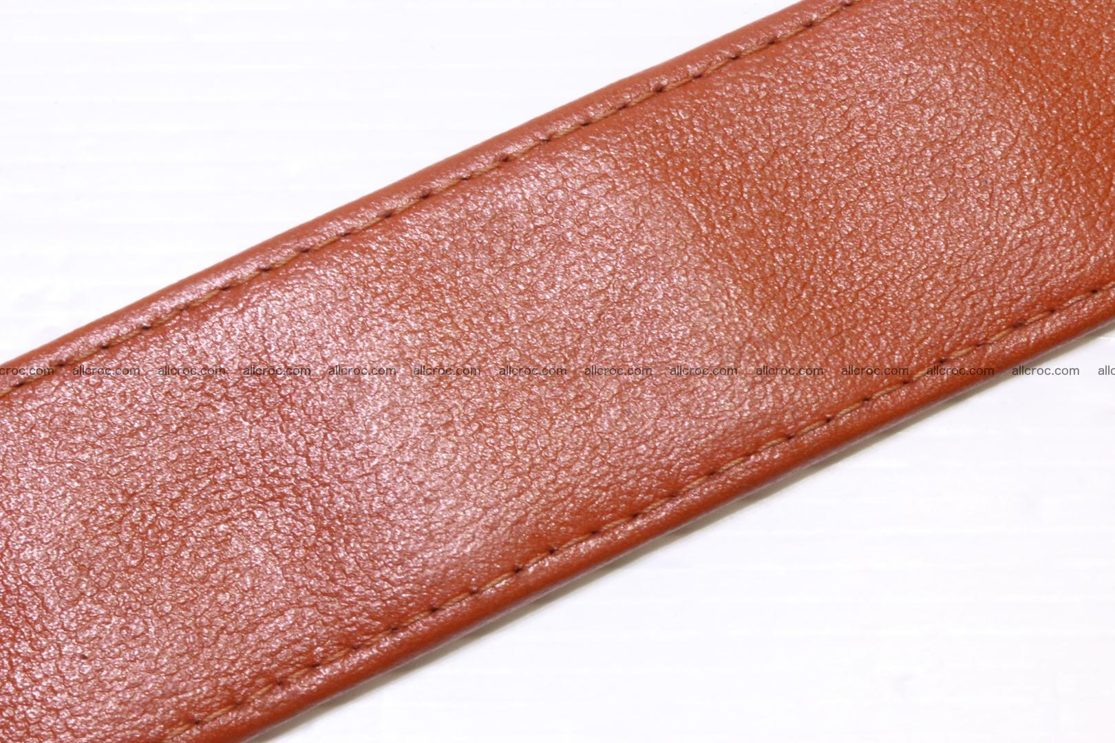 Genuine Crocodile leather Hornback belt 006 Foto 5