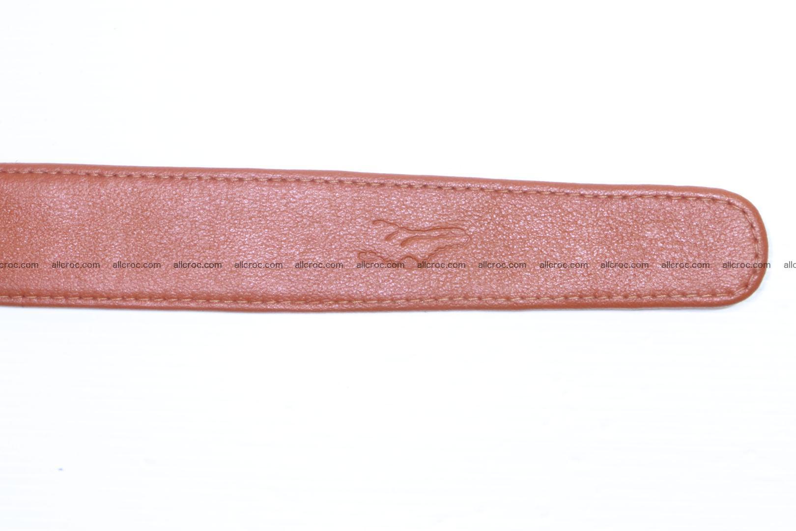 Genuine Crocodile leather Hornback belt 006 Foto 7