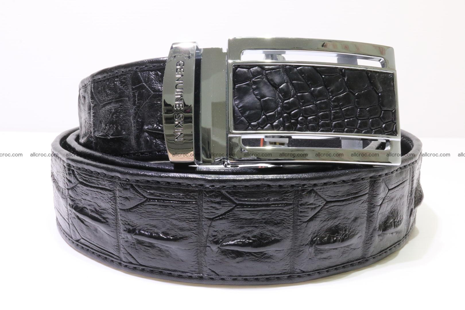 Crocodile leather Hornback belt 004 Foto 0
