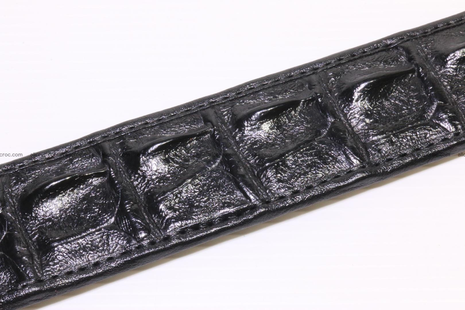 Crocodile leather Hornback belt 004 Foto 4