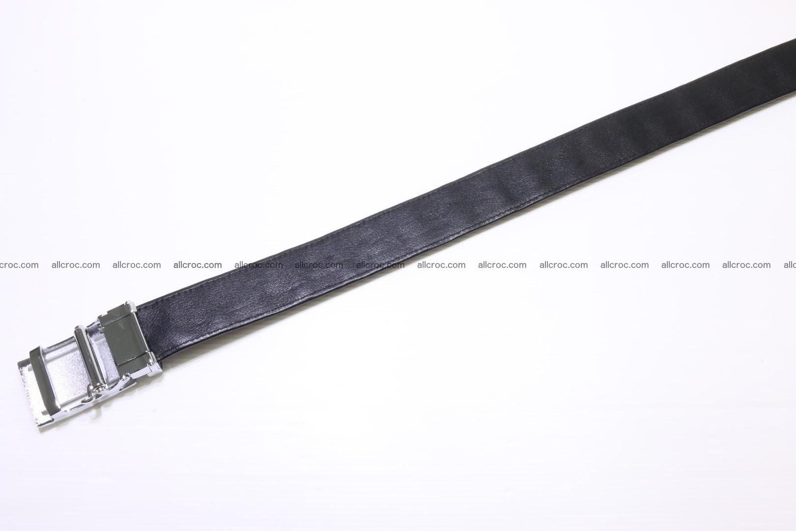 Crocodile leather Hornback belt 004 Foto 3