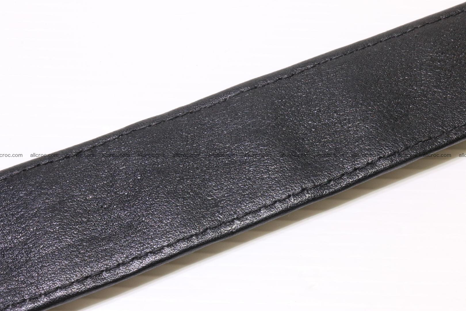 Crocodile leather Hornback belt 004 Foto 5