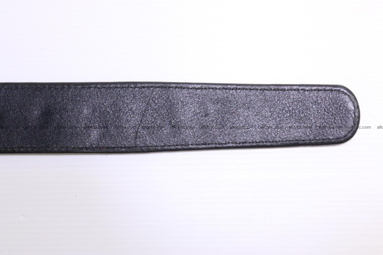 Crocodile leather Hornback belt 004 Foto 7