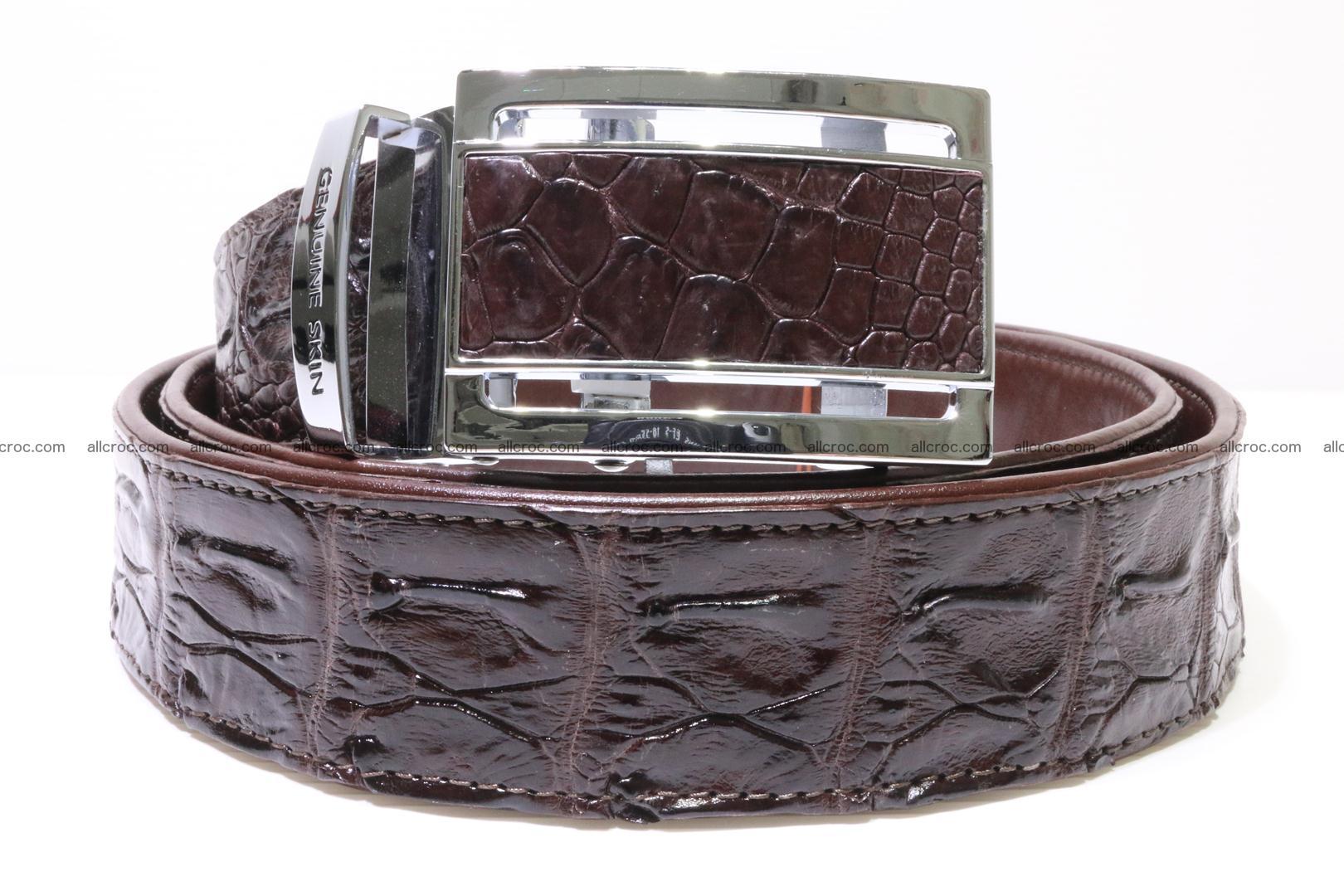 Genuine Crocodile leather Hornback belt 017 Foto 0