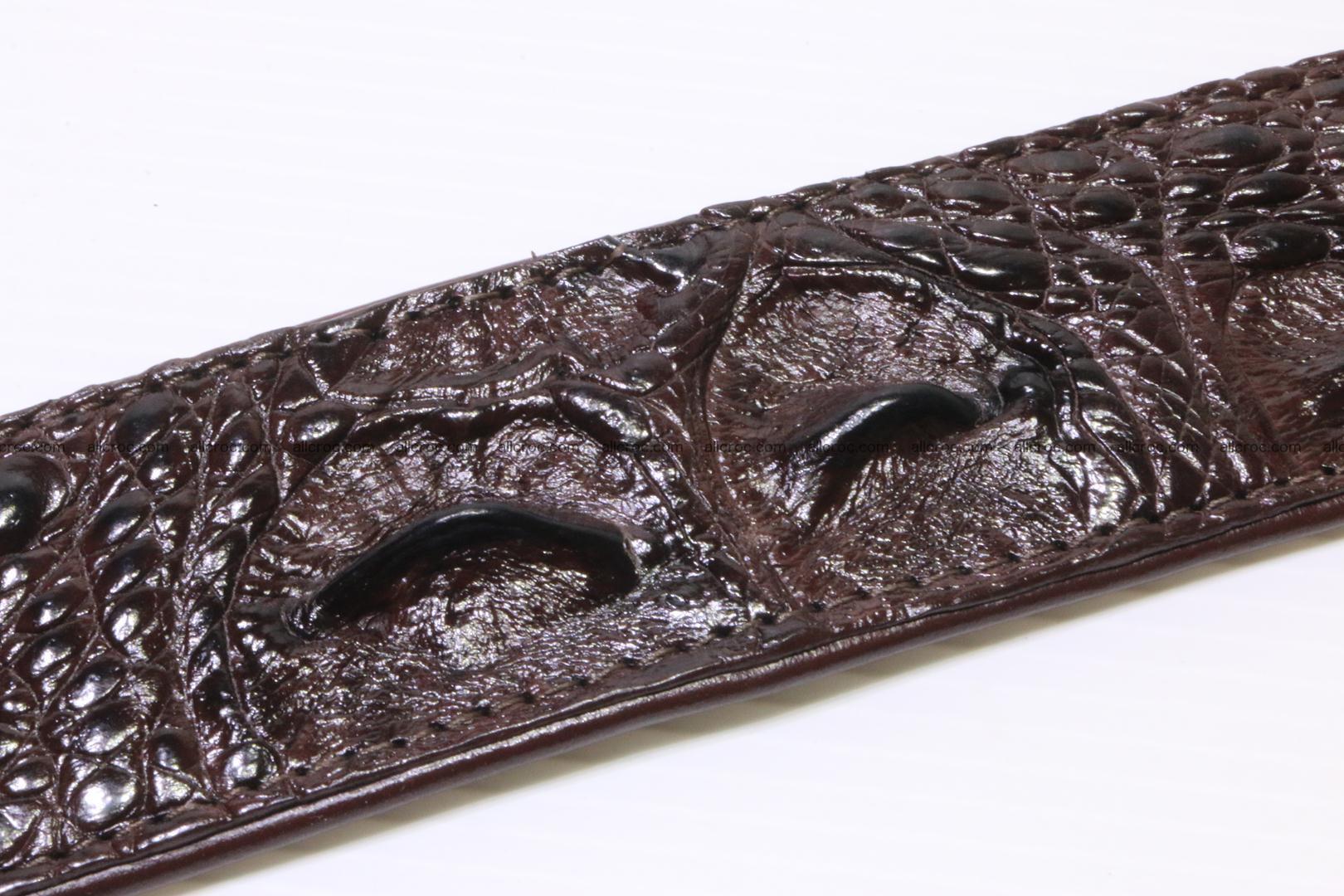 Genuine Crocodile leather Hornback belt 017 Foto 1