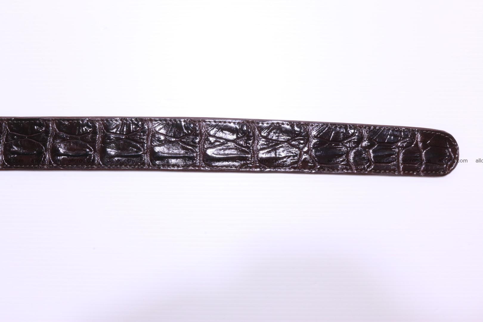 Genuine Crocodile leather Hornback belt 017 Foto 5