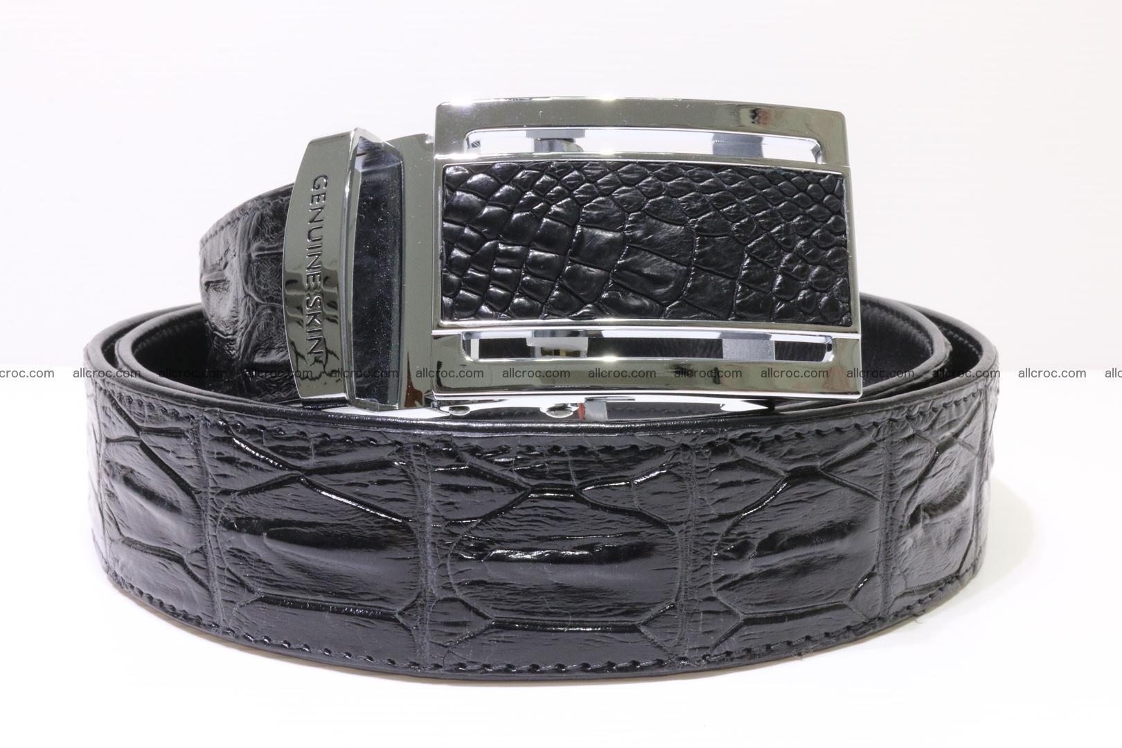 Genuine Crocodile leather Hornback belt 018 Foto 0