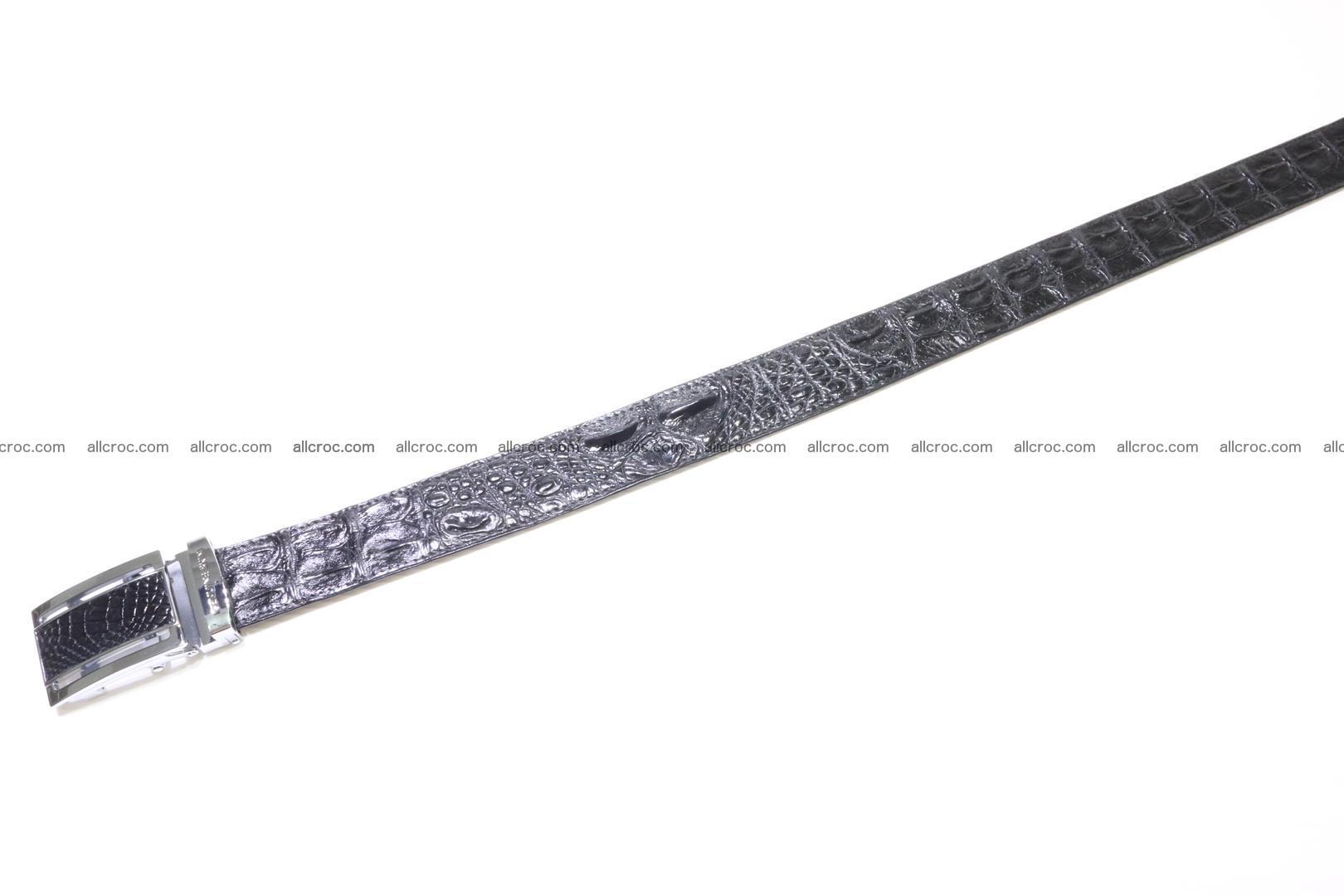 Genuine Crocodile leather Hornback belt 018 Foto 2