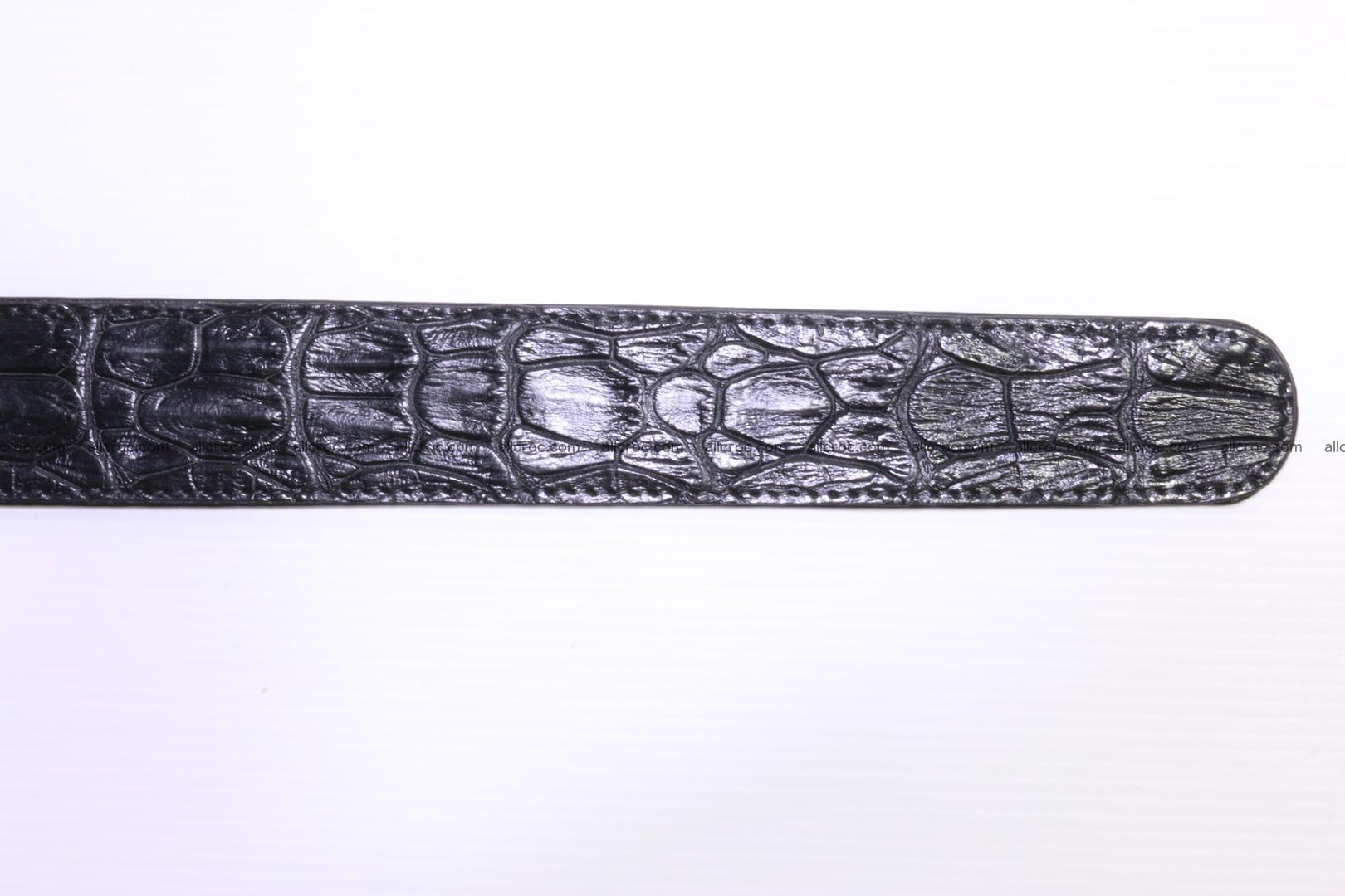 Genuine Crocodile leather Hornback belt 018 Foto 4