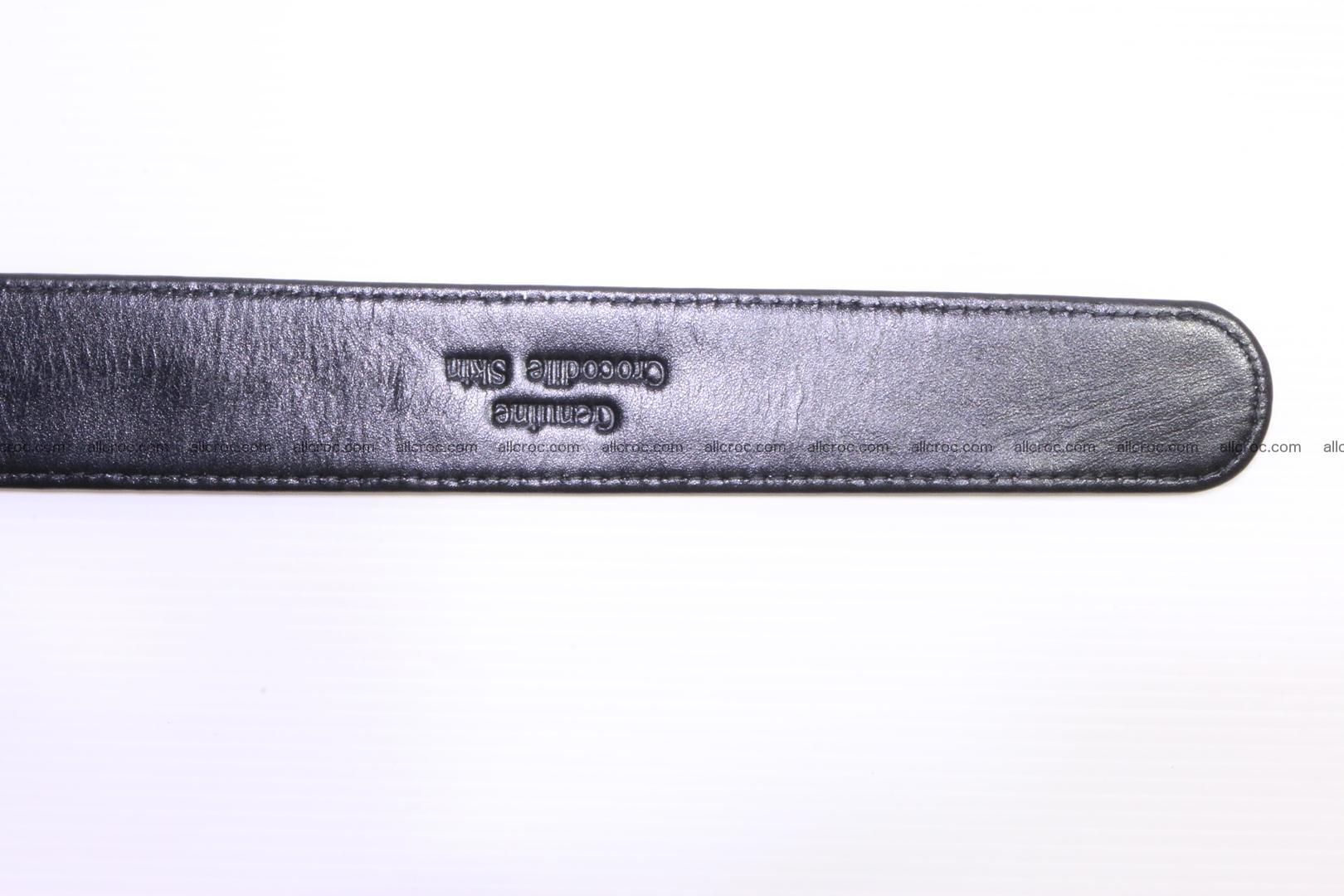 Genuine Crocodile leather Hornback belt 018 Foto 5