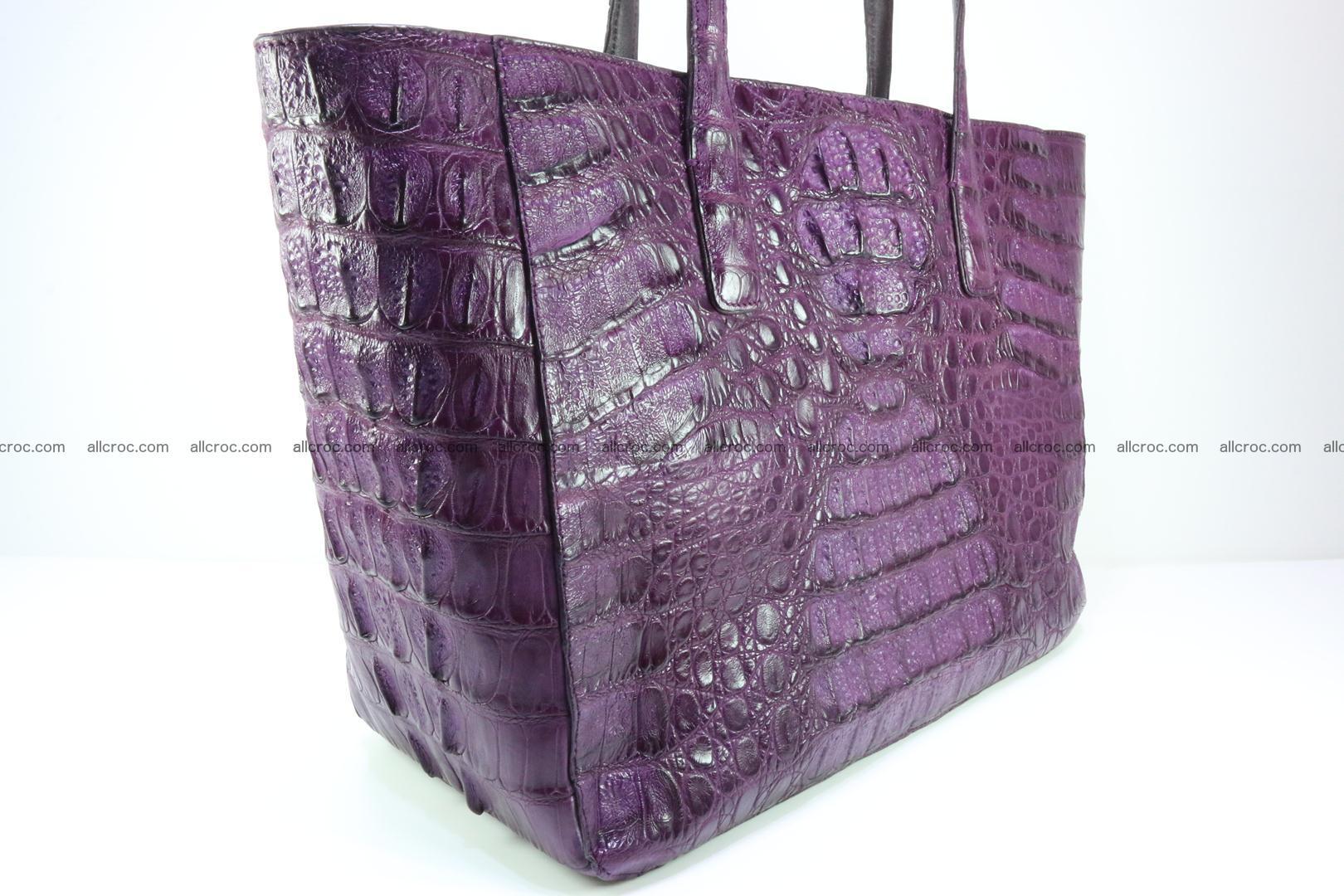 Genuine crocodile leather women's bag 061 Foto 6