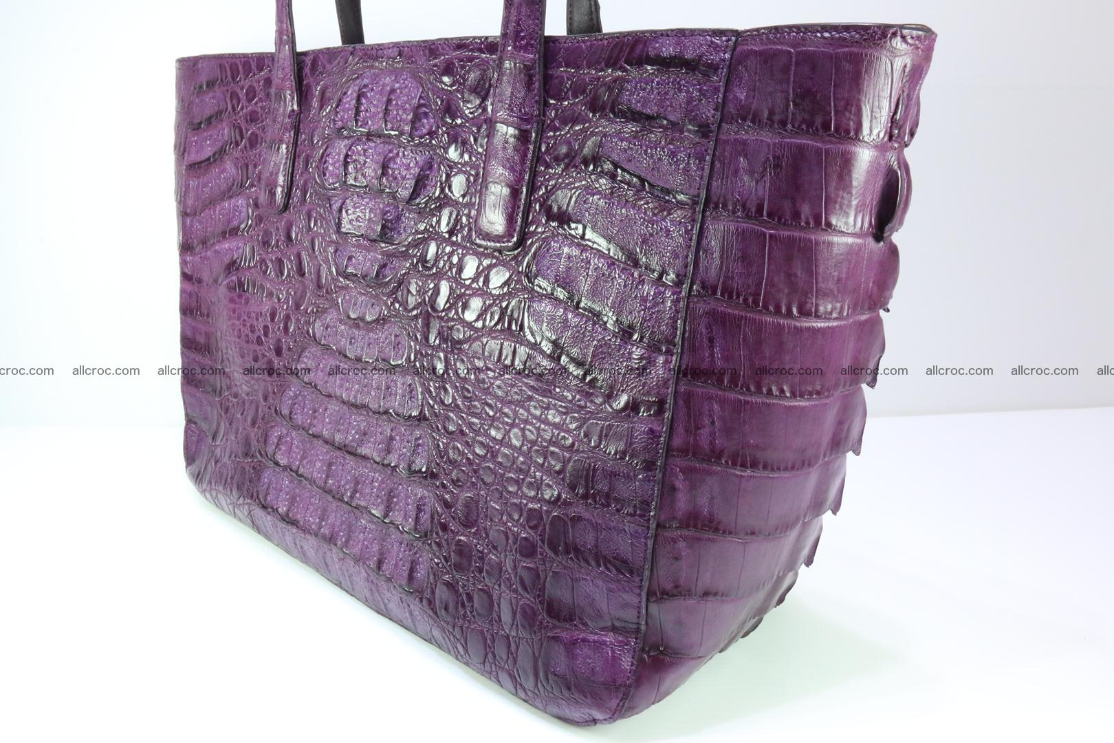 Genuine crocodile leather women's bag 061 Foto 9