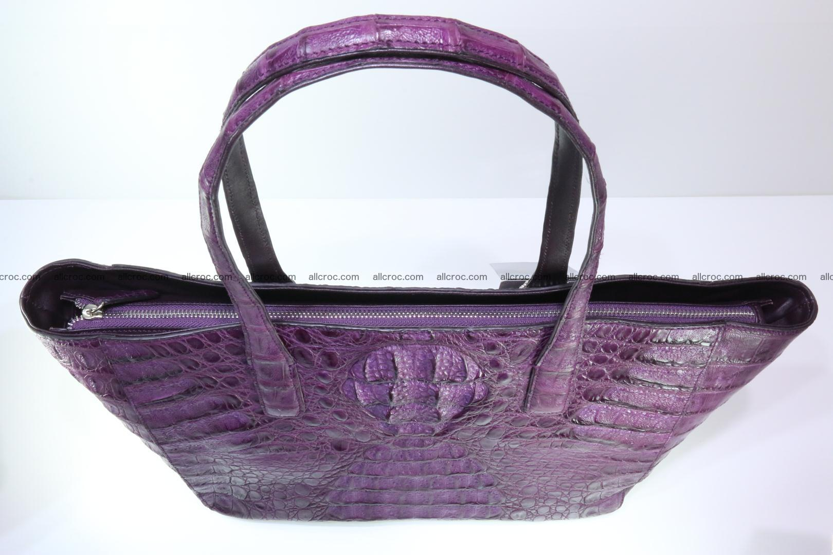 Genuine crocodile leather women's bag 061 Foto 4