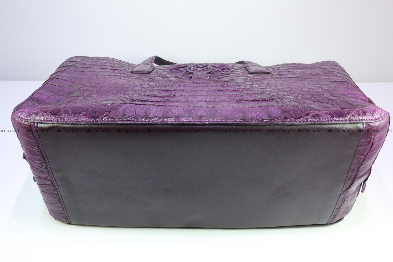 Genuine crocodile leather women's bag 061 Foto 11