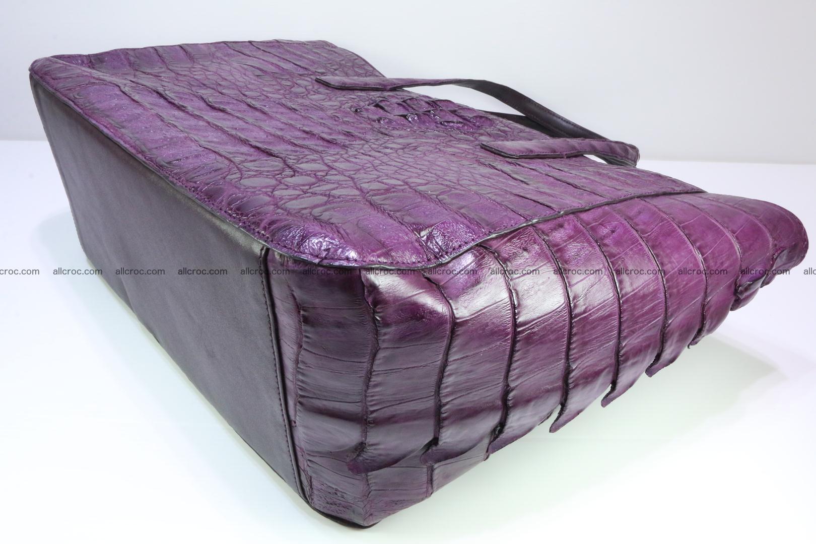Genuine crocodile leather women's bag 061 Foto 8
