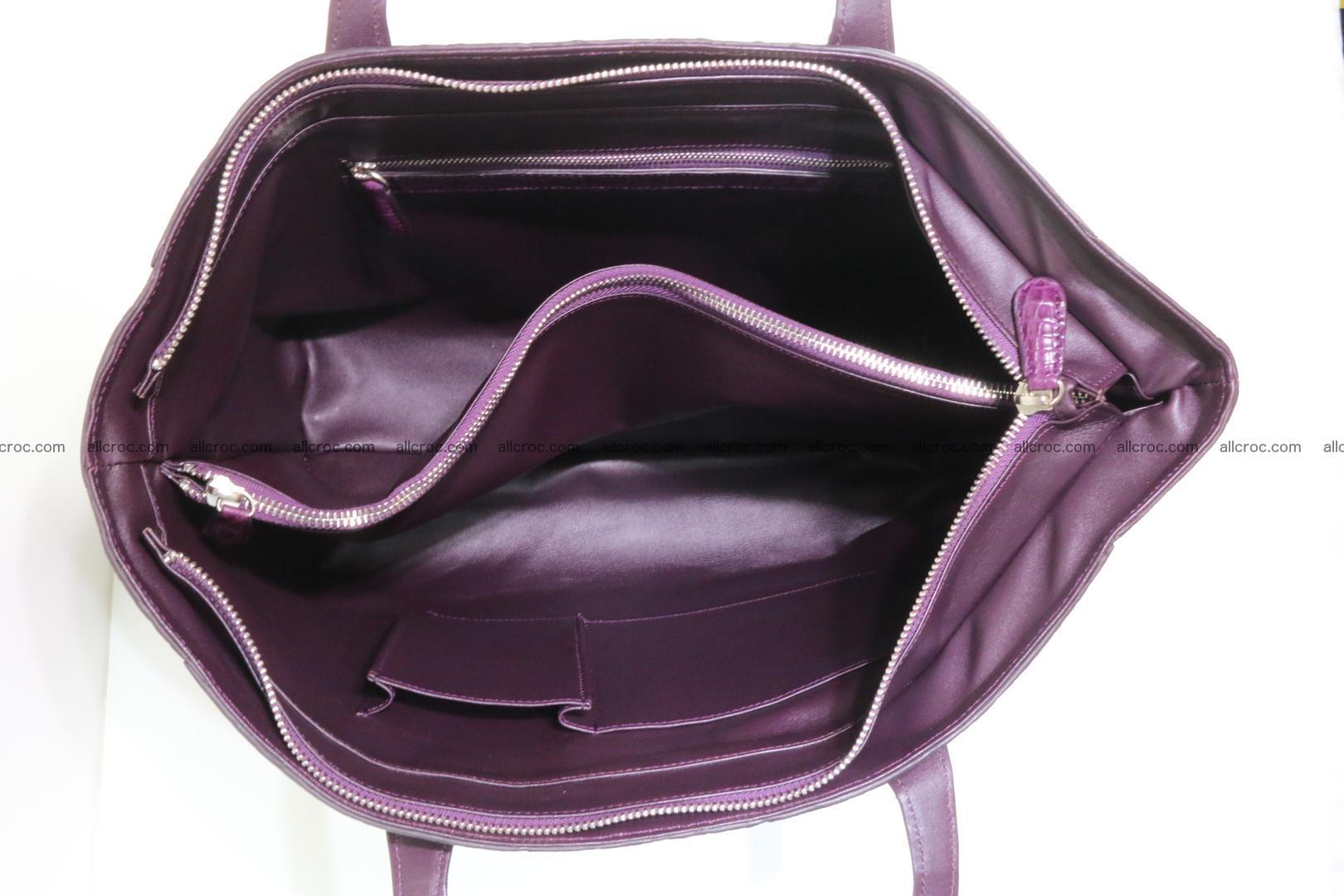 Genuine crocodile leather women's bag 061 Foto 13