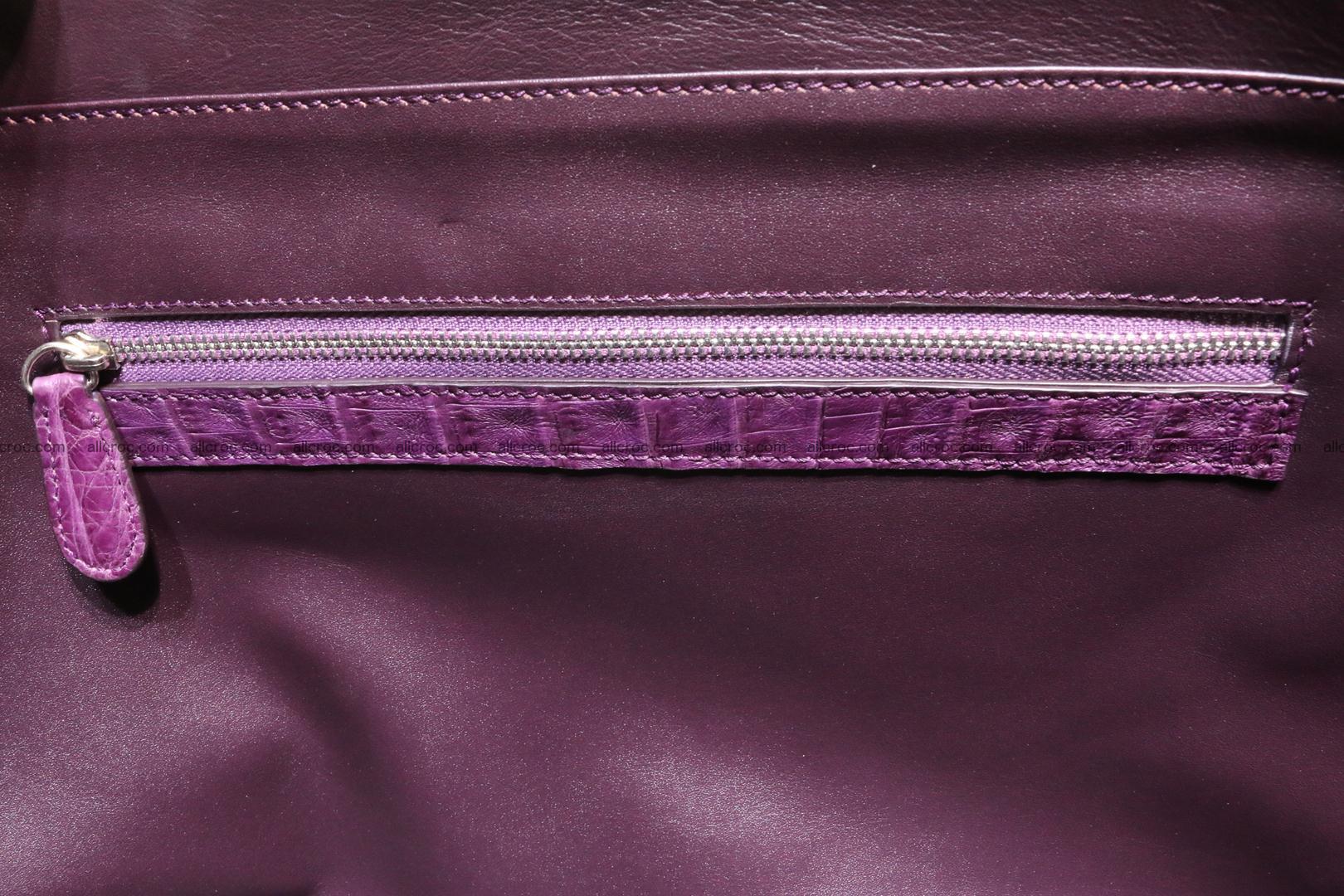 Genuine crocodile leather women's bag 061 Foto 14