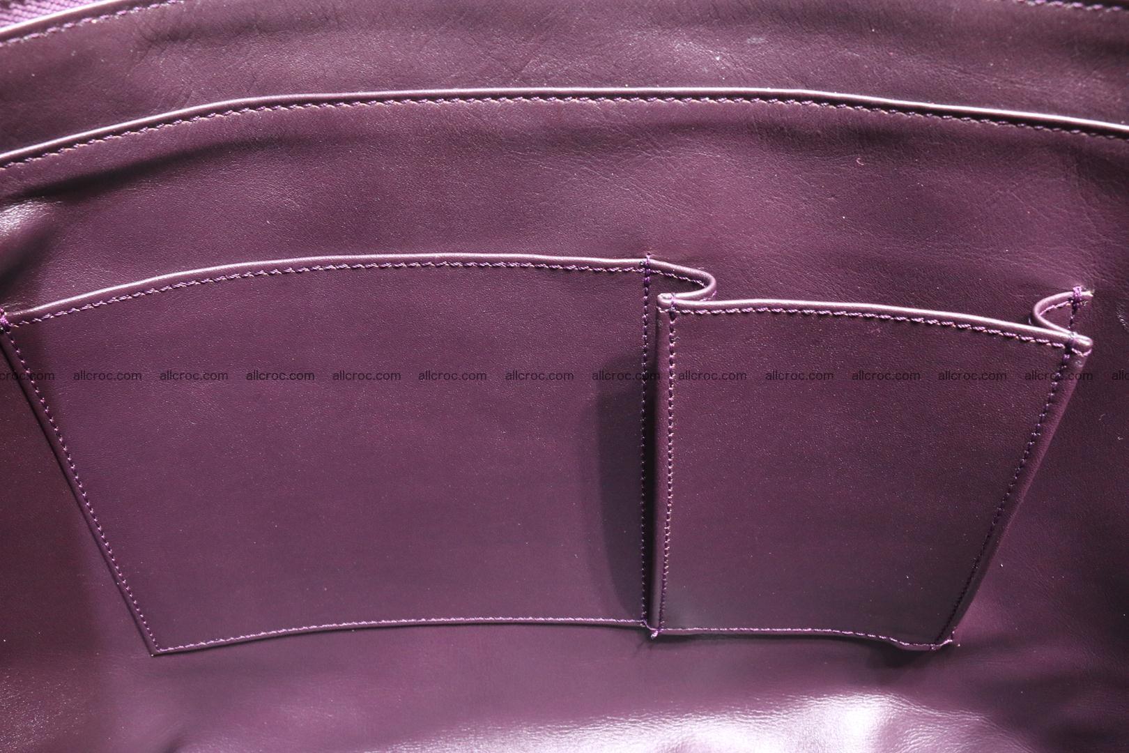 Genuine crocodile leather women's bag 061 Foto 12
