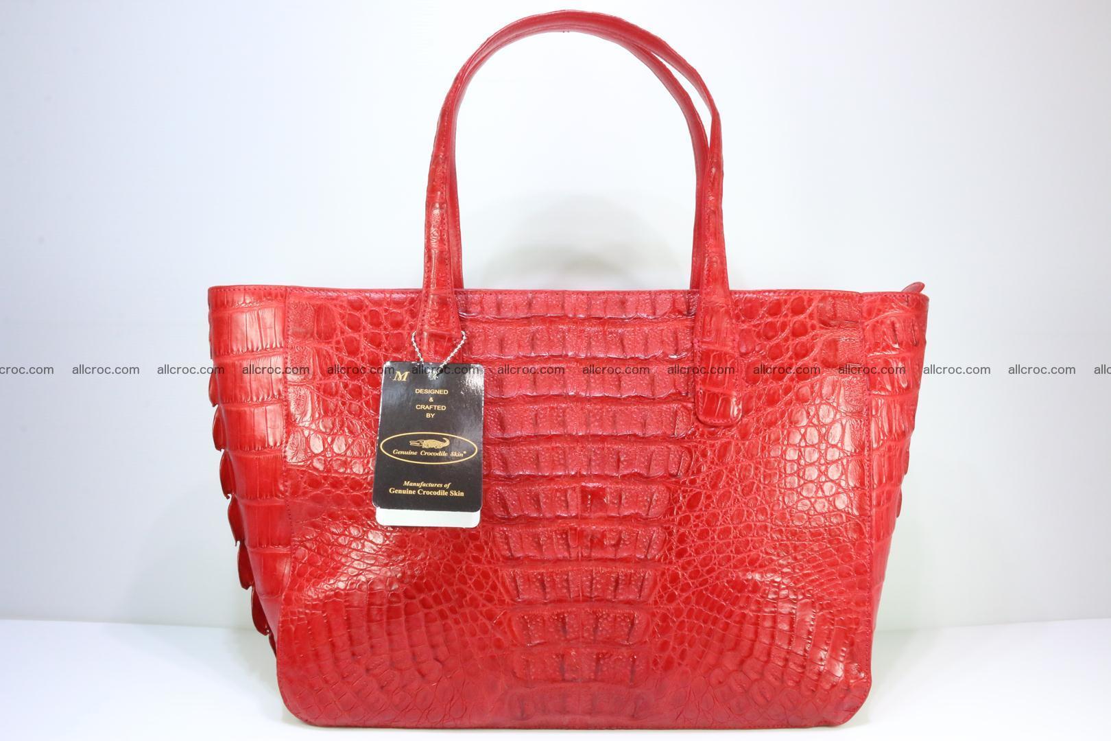 Genuine crocodile leather women's bag 062 Foto 4