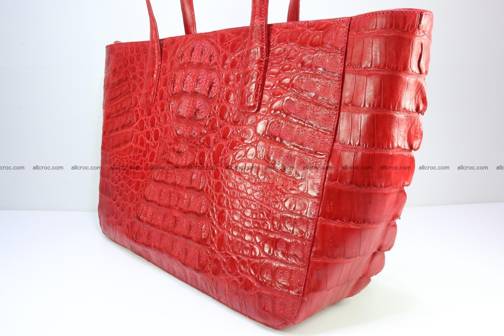 Genuine crocodile leather women's bag 062 Foto 8