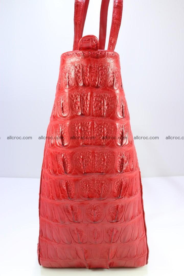 Genuine crocodile leather women's bag 062 Foto 5