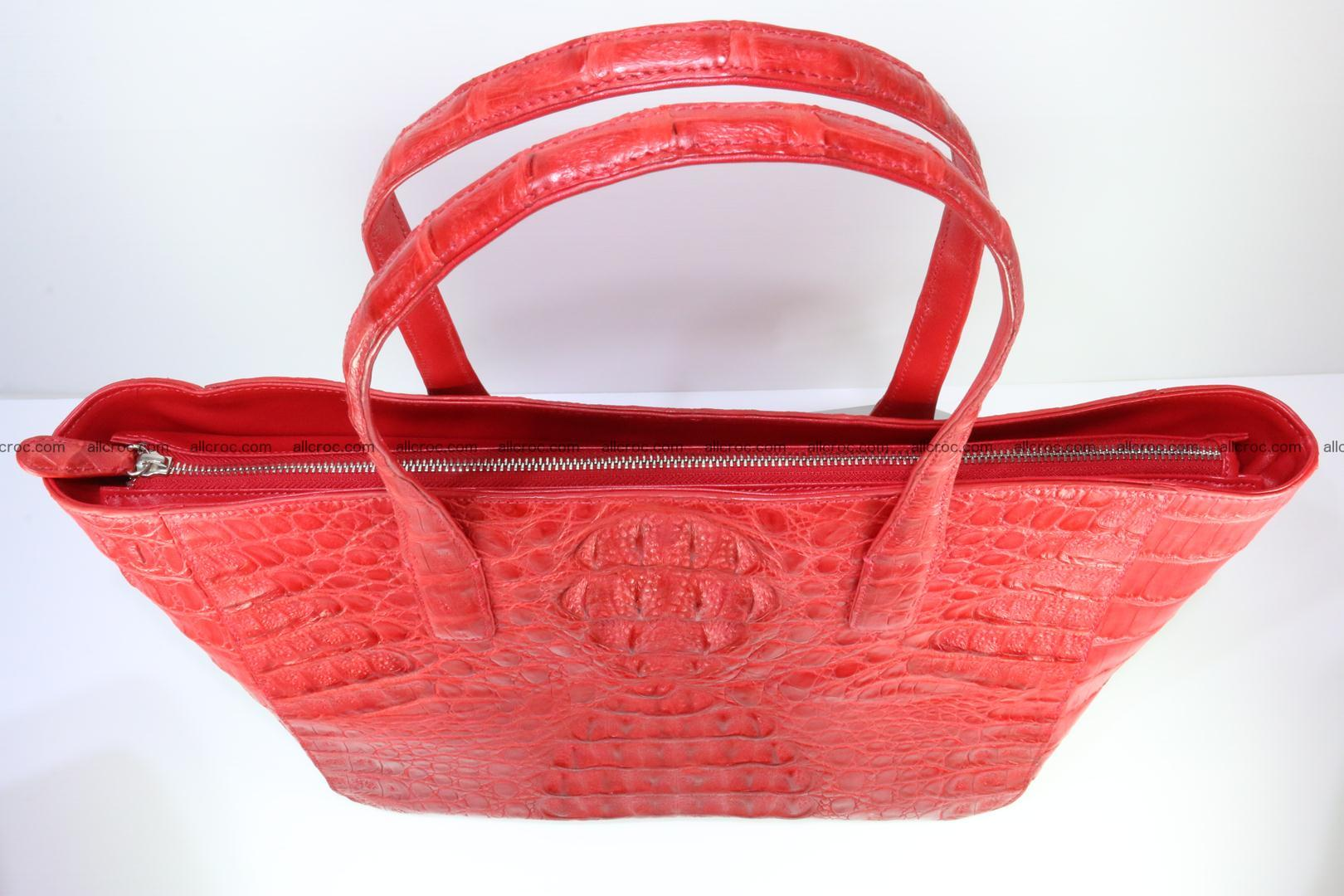 Genuine crocodile leather women's bag 062 Foto 7