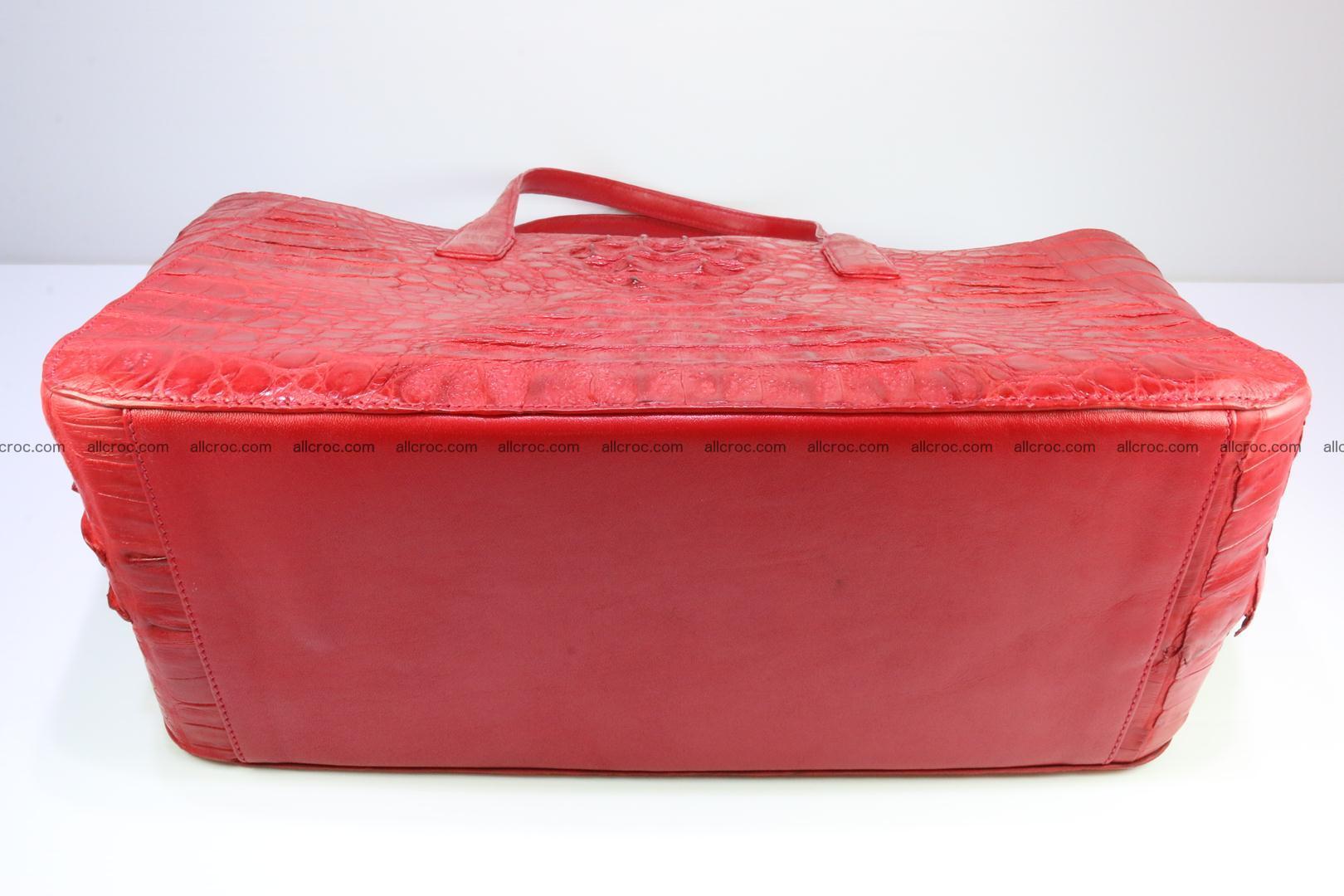 Genuine crocodile leather women's bag 062 Foto 9