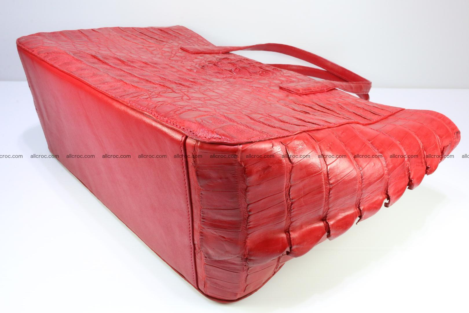 Genuine crocodile leather women's bag 062 Foto 11