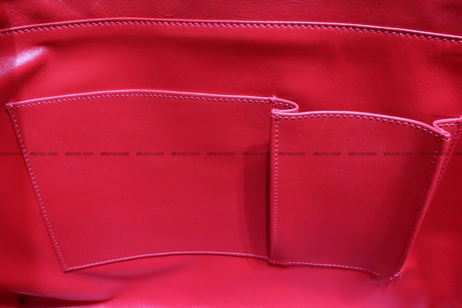 Genuine crocodile leather women's bag 062 Foto 13