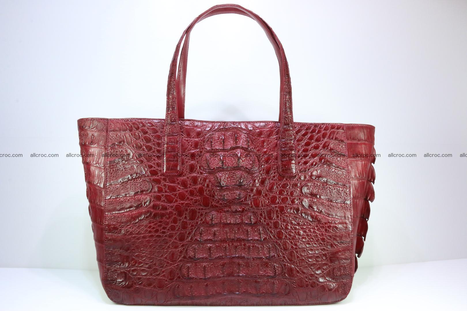 Genuine crocodile leather women's bag 063 Foto 0