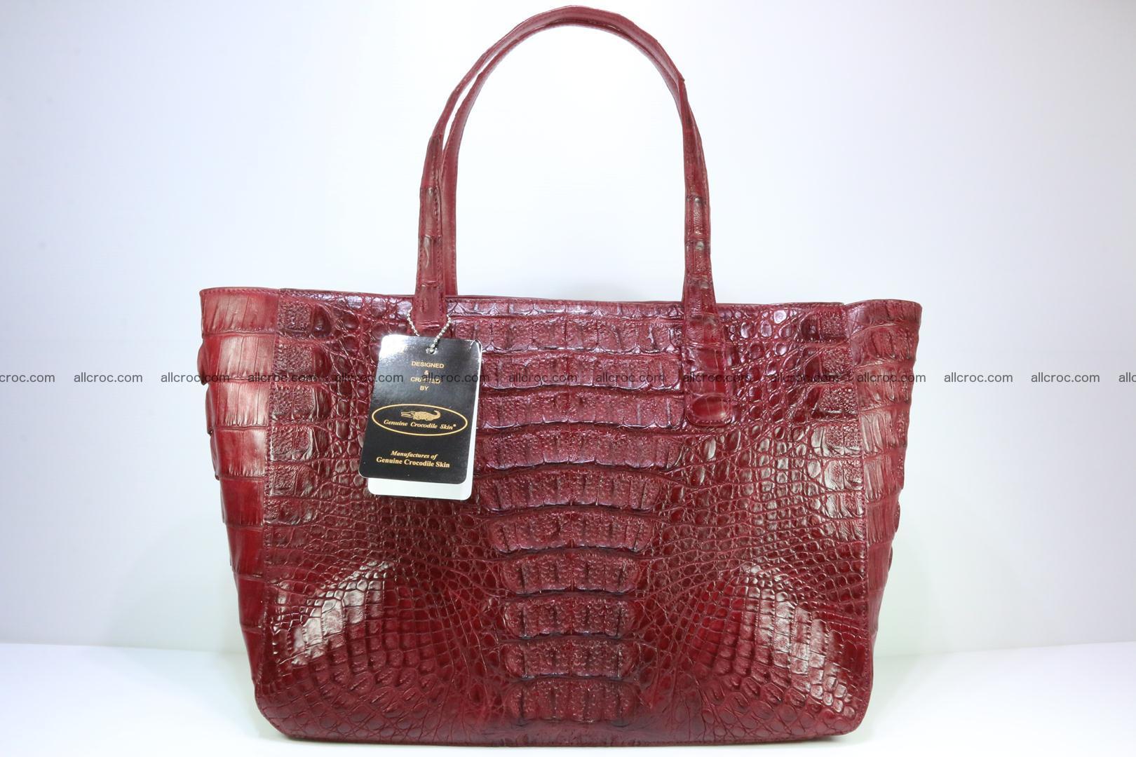 Genuine crocodile leather women's bag 063 Foto 1