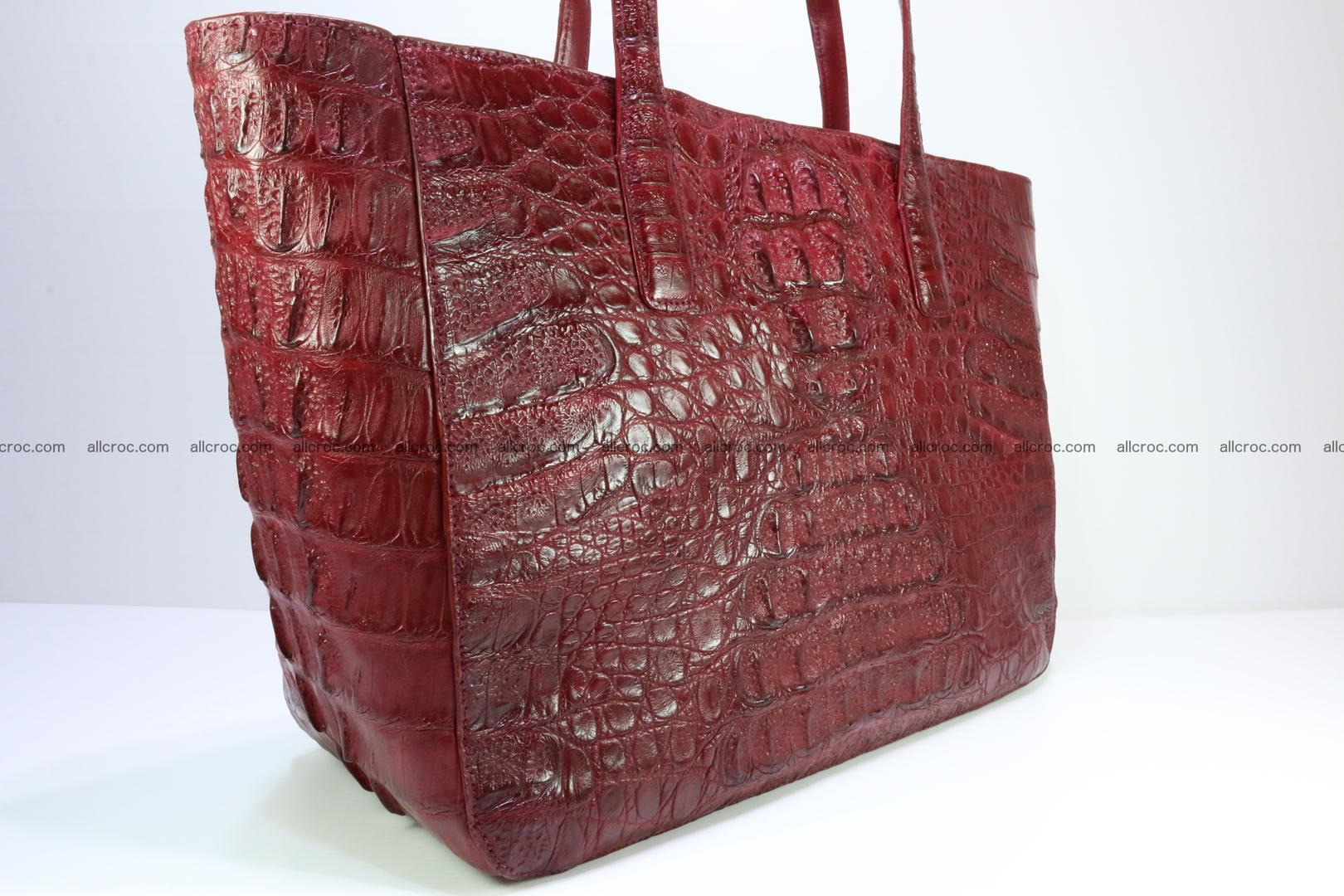 Genuine crocodile leather women's bag 063 Foto 2
