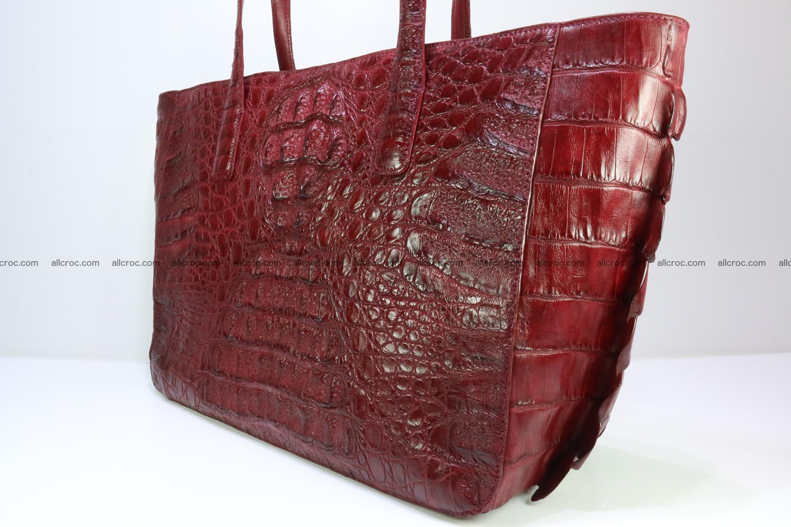 Genuine crocodile leather women's bag 063 Foto 3