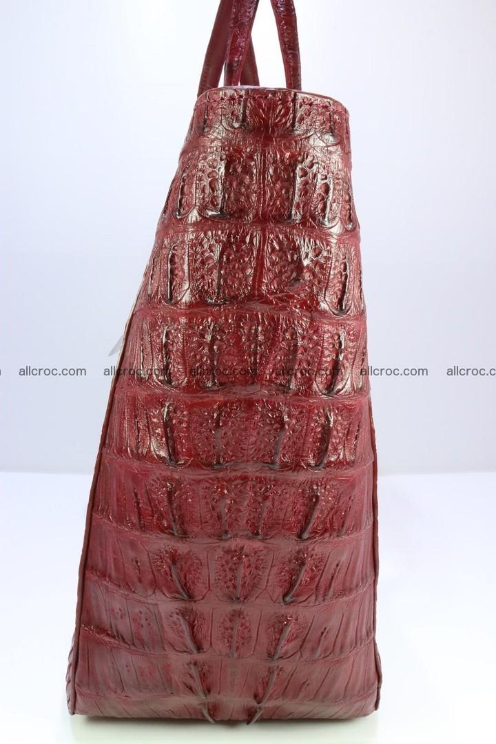 Genuine crocodile leather women's bag 063 Foto 8