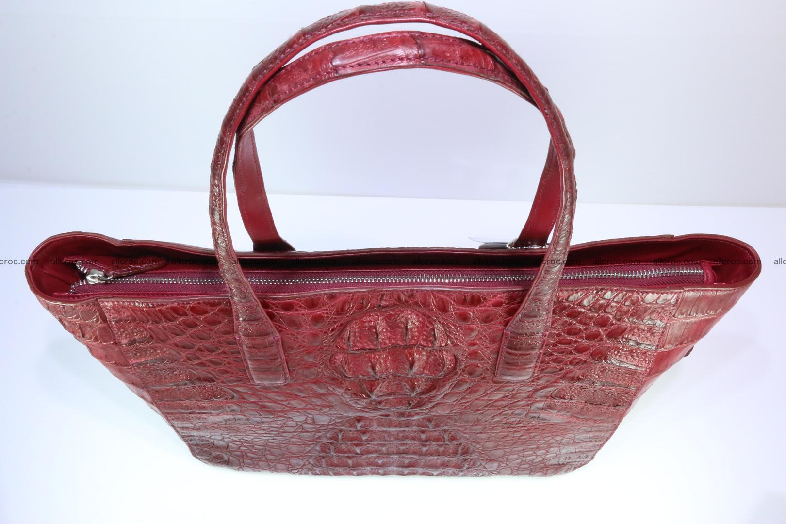 Genuine crocodile leather women's bag 063 Foto 6