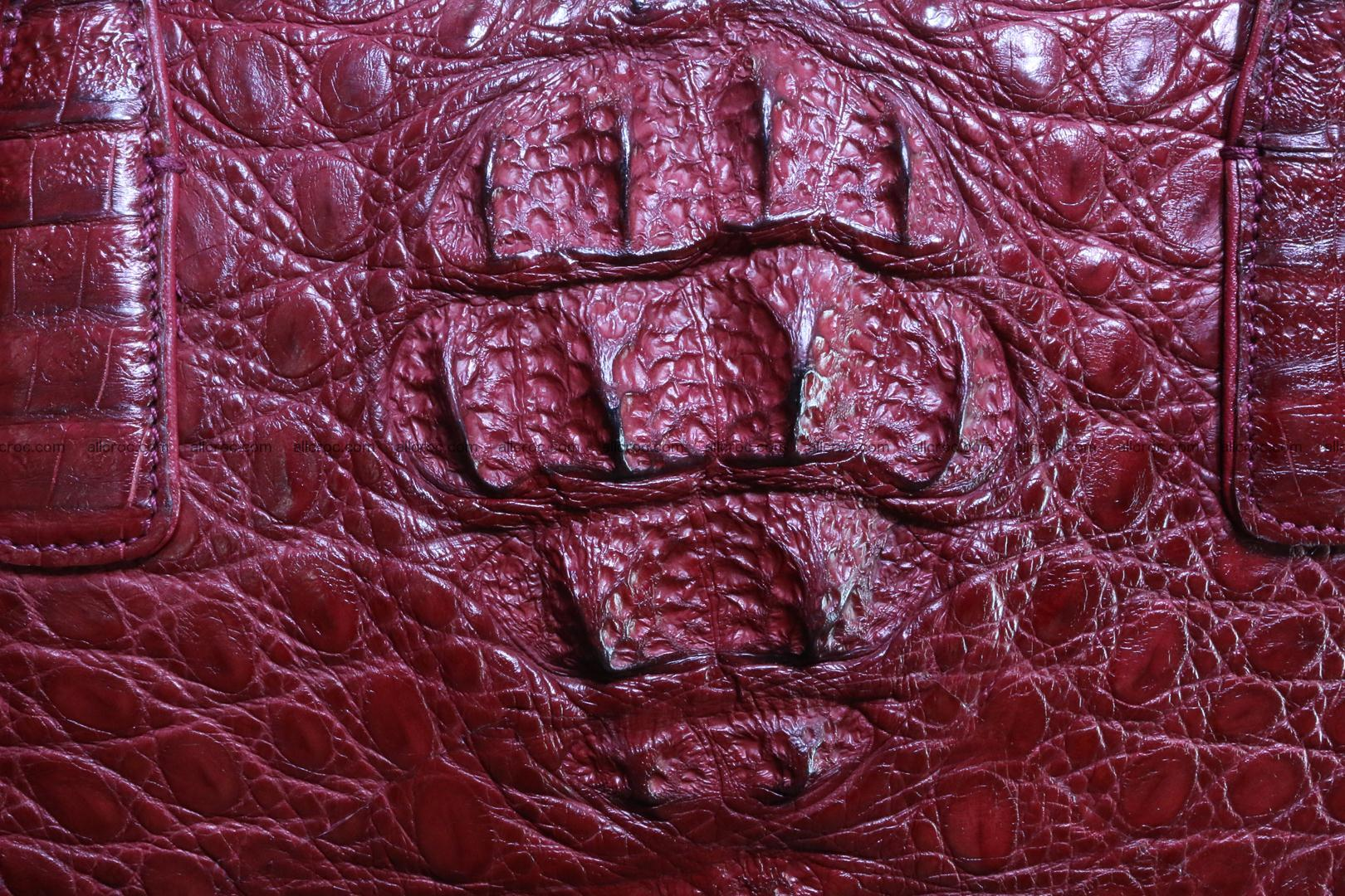Genuine crocodile leather women's bag 063 Foto 4