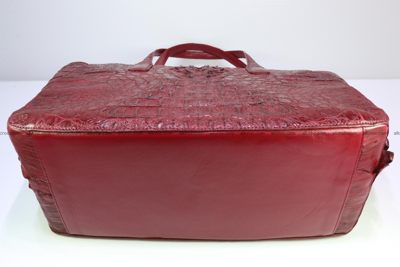 Genuine crocodile leather women's bag 063 Foto 11