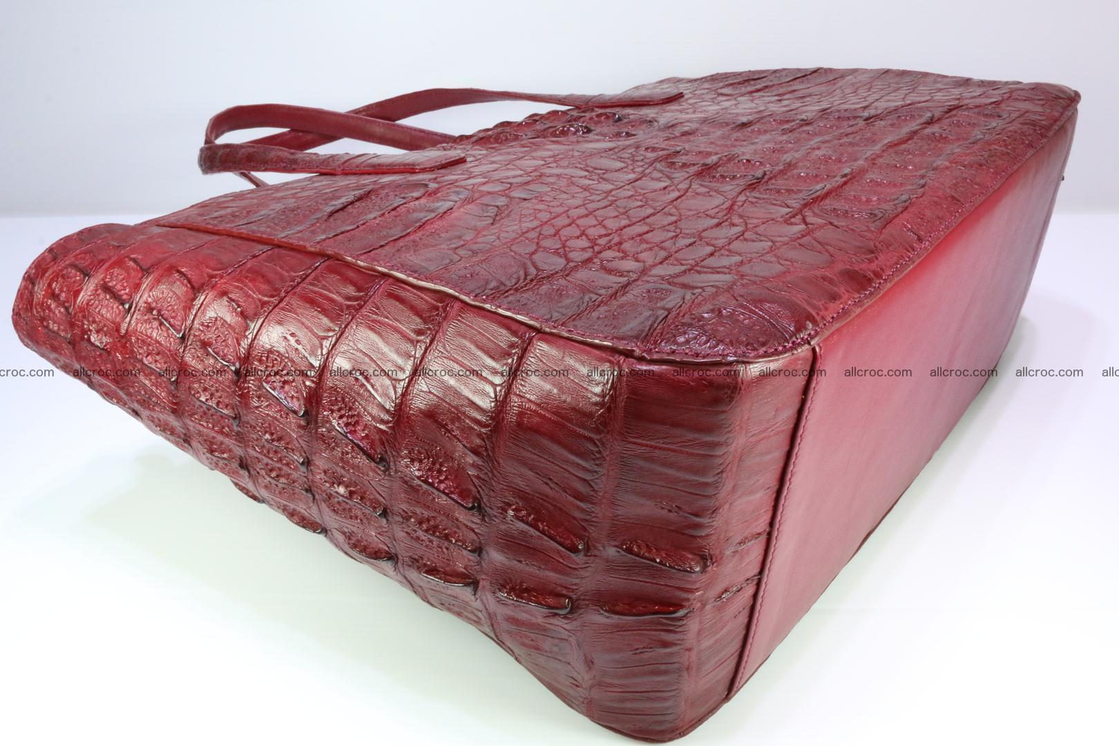Genuine crocodile leather women's bag 063 Foto 9