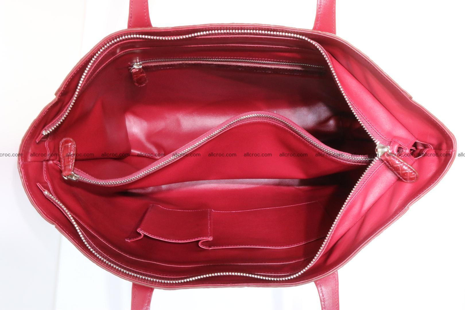 Genuine crocodile leather women's bag 063 Foto 12