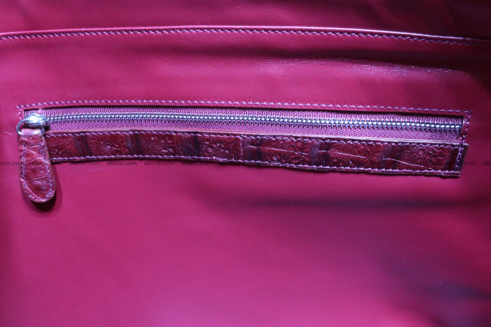 Genuine crocodile leather women's bag 063 Foto 13