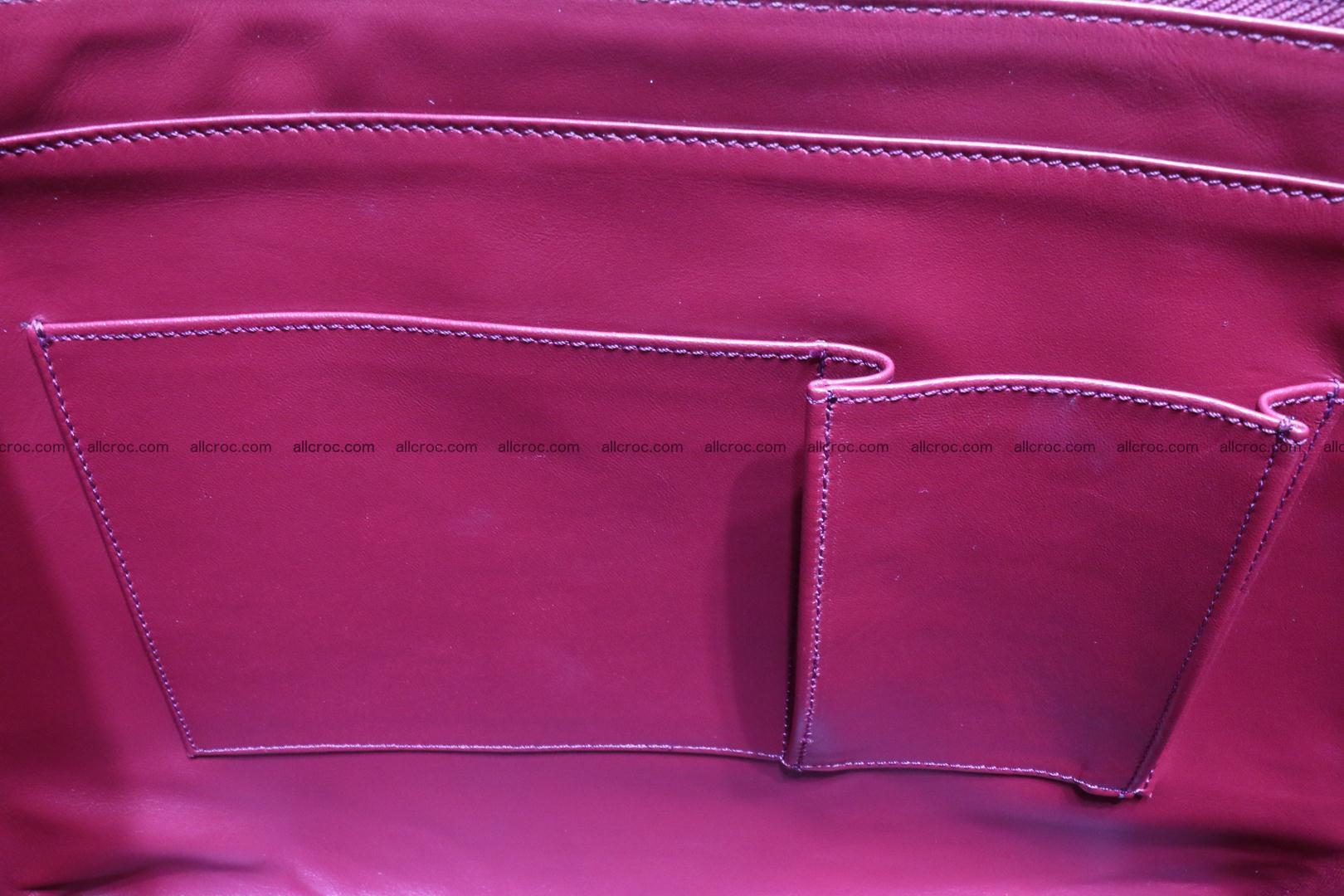 Genuine crocodile leather women's bag 063 Foto 14