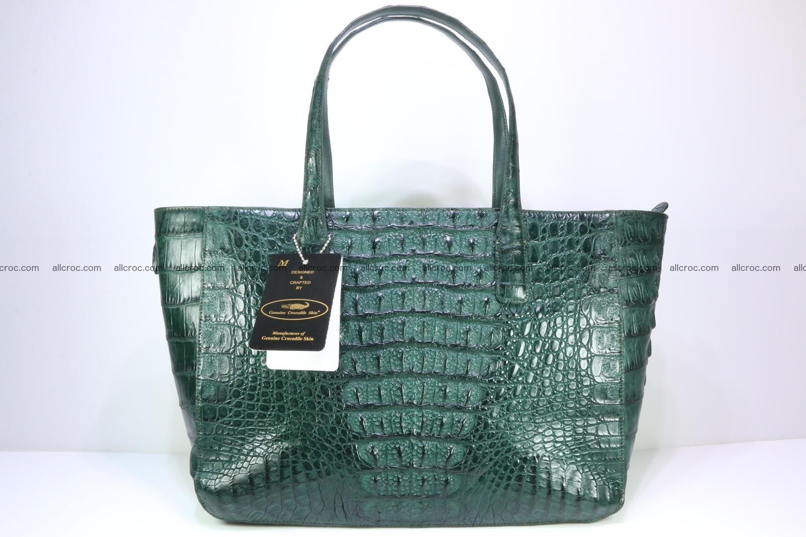 Genuine crocodile leather women's bag 064 Foto 1
