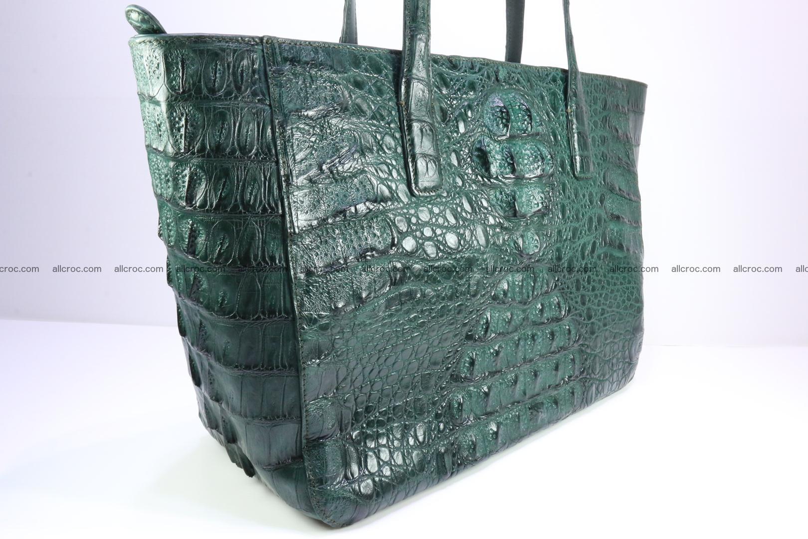 Genuine crocodile leather women's bag 064 Foto 4