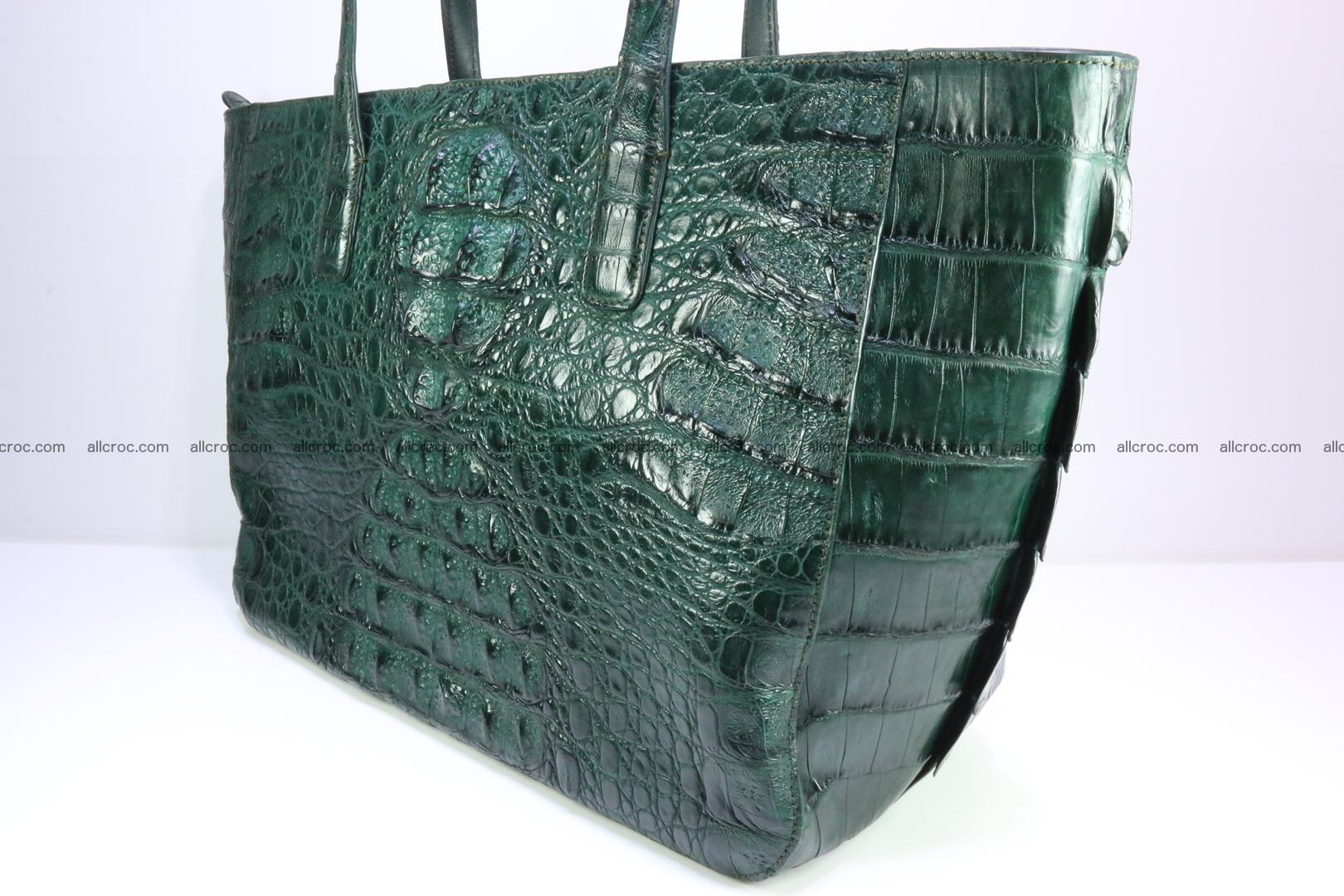 Genuine crocodile leather women's bag 064 Foto 5