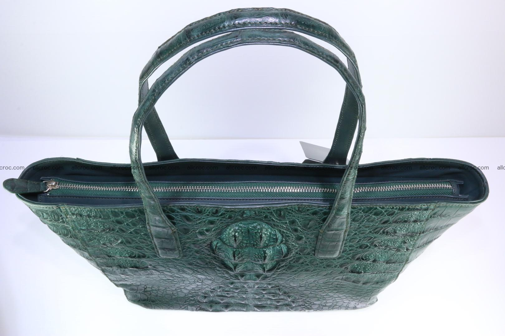 Genuine crocodile leather women's bag 064 Foto 7