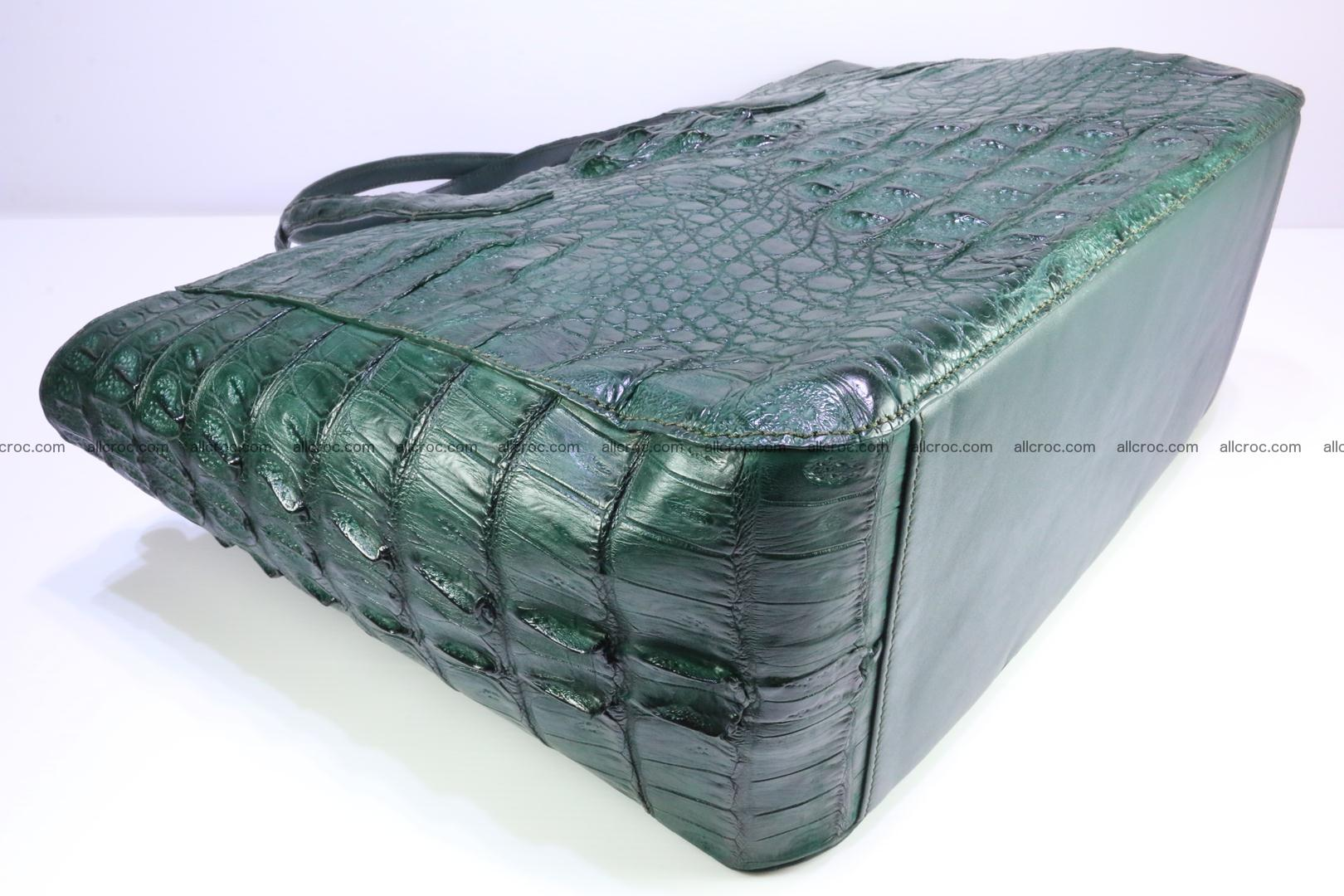 Genuine crocodile leather women's bag 064 Foto 6