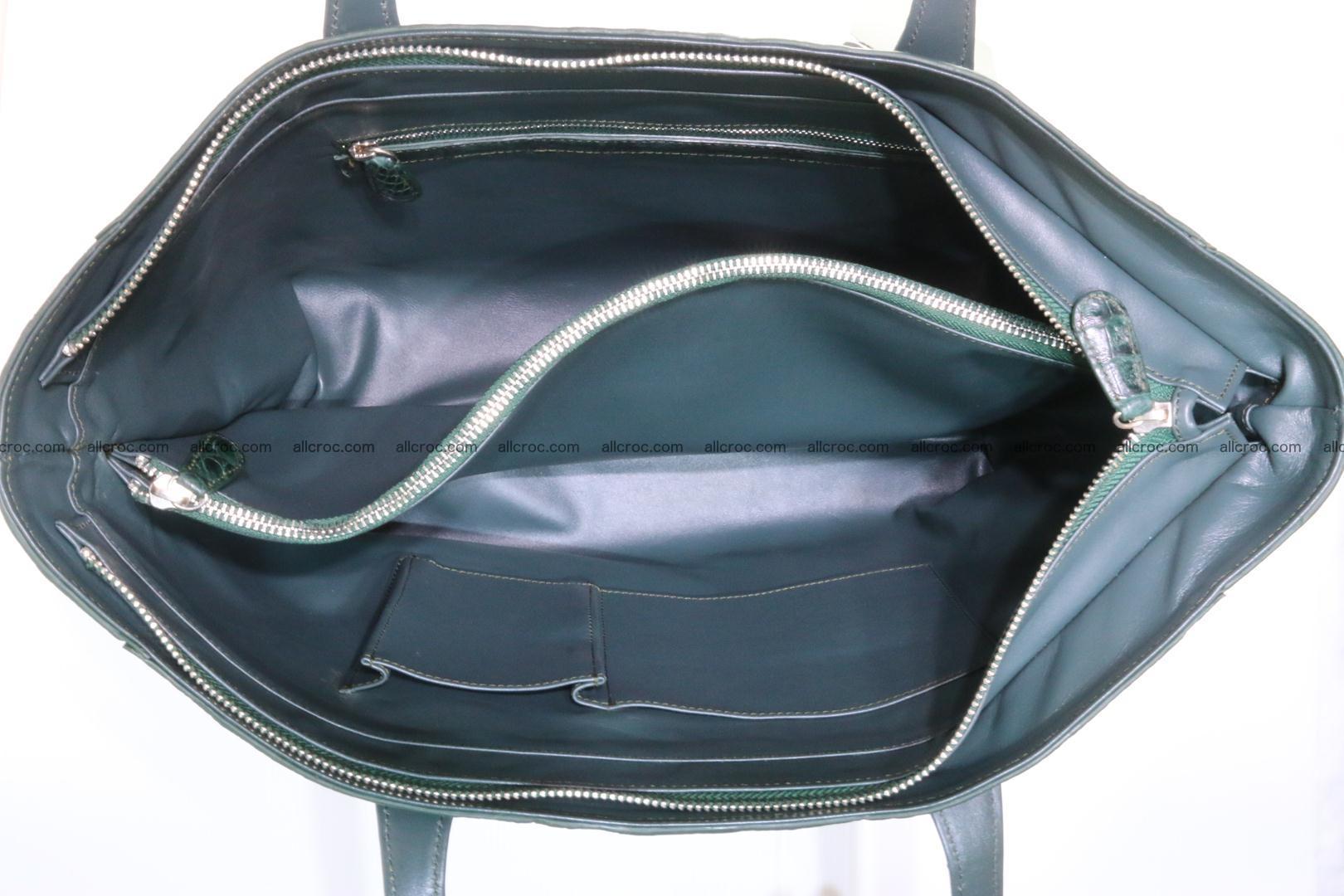 Genuine crocodile leather women's bag 064 Foto 12